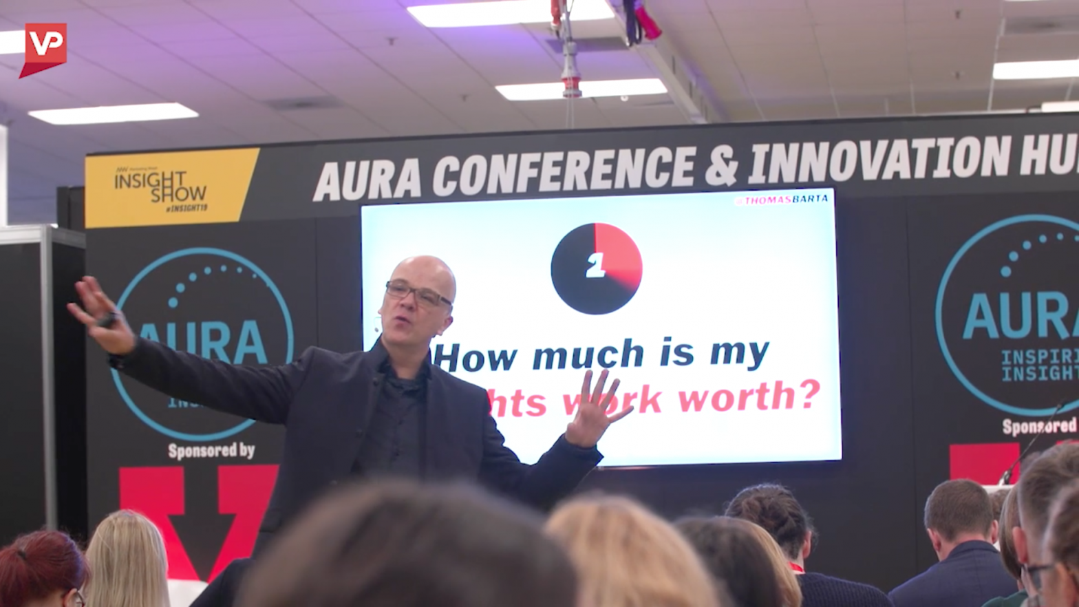 Image of the Aura stage at the Insight show.