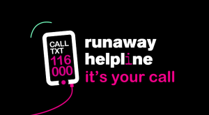 Image of the video produced for Runaway Helpline.