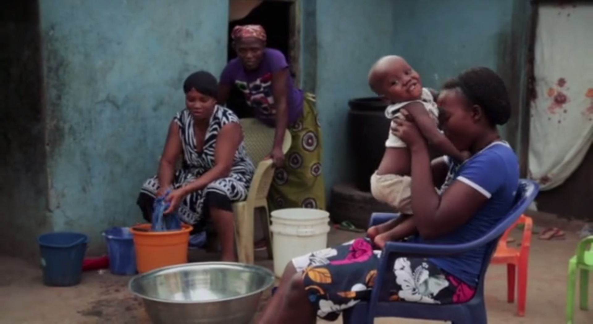 Image of a Nigerian family taken from a video produced by Vox Pops International.